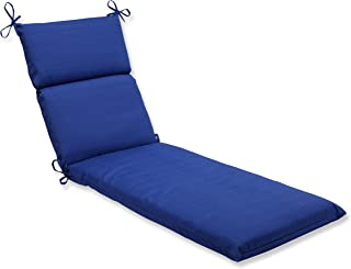 Pillow Perfect Outdoor/Indoor Chaise Lounge Cushion, 72.5 in. x 21 in, Fresco Blue