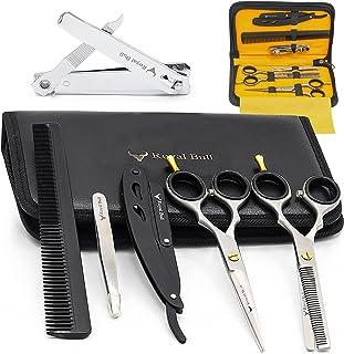 """Royal Bull Stainless Steel Hair Cutting Scissors Set, Barber Hairdressing Scissors Kit 6.0"""", Hair Cutting Scissors for Bar..."""