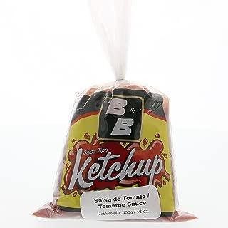 B&B Ketchup Tomato Sauce 16 Oz - B&B Ketchup Salsa De Tomate (Pack of 6)