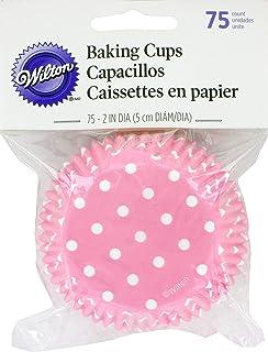 Wilton Standard Baking Cups, Light Pink Dots, 75-Pack
