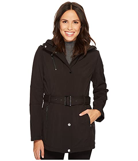 Snap Front Belted Softshell M522207C, Black