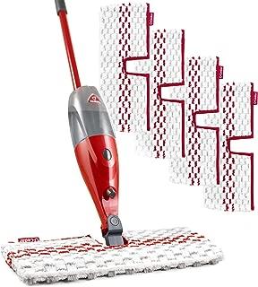O-Cedar ProMist MAX Microfiber Spray Mop with 4 Extra Refills, Red