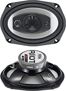 $38 » BOSS Audio Systems R94 500 Watt Per Pair, 6 x 9 Inch, Full Range, 4 Way Car Speakers Sold in Pairs (Renewed)