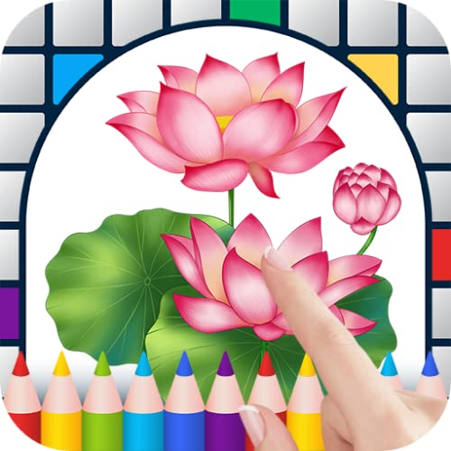 Lotus Flowers Color by Number - Free Pixel Art Game - Coloring Book Pages - Happy, Creative & Relaxing - Paint & Crayon Palette - Zoom in & Tap to Color - Share Creations with Friends!