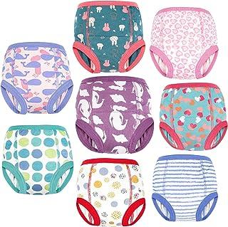 FLYISH DIRECT 8 Paquets de Pantalons D'entraînement Culottes d'apprentissage de la Propreté pour Tout-Petit Bébé 2T-6T