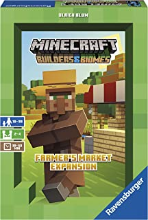 Ravensburger Minecraft: Builders & Biomes - Farmer's Market Expansion Strategy Board Game Ages 10 & Up - AMAZON EXCLUSIVE