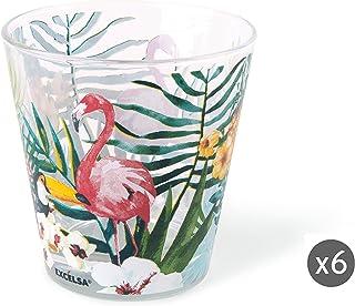 Excelsa 61979Juego Vasos Agua, Multicolor, 6Unidad
