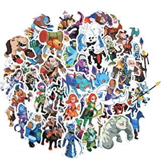 50 Pcs Popular Game Dota 2 Stickers for Laptop Car Phone Luggage Cute Cartoon Stickers