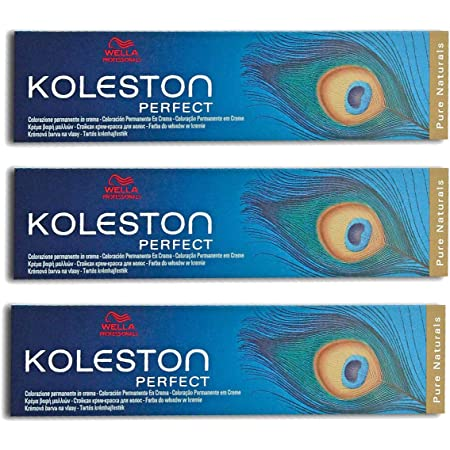 Wella Koleston Perfect 4/07 - Tinte para el cabello (3 unidades, 60 ml), color castaño medio natural