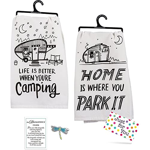624a4b5310 J4U Camping Kitchen Set - Home Is Where You Park It Towel