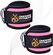 DMoose Fitness Ankle Straps for Cable Machines for Kickbacks, Glute Workouts, Leg Extensions, Curls, and Hip Abductors for Men and Women, Adjustable Neoprene Support