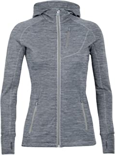 Icebreaker Merino Women's Quantum Long Sleeve Zip Hoodie, Merino Wool