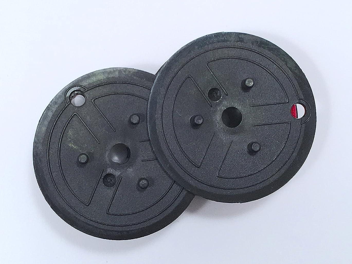 インディカ調べる薄めるecost shop ダブルスプールリボン EP-102 赤黒【12個セット】新品 汎用品