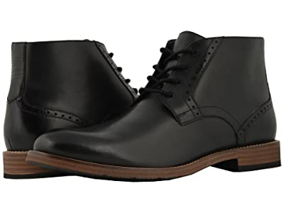 Nunn Bush Middleton Plain Toe Chukka (Black) Men