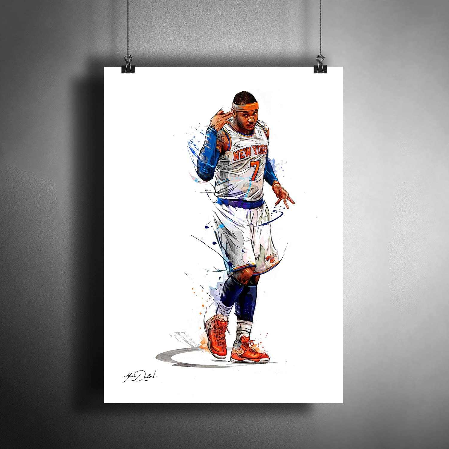Carmelo Anthony NBA Basketball Art Poster Photo Print Decor ((A3 Size (297×420 mm (11,7×16,5 inches))