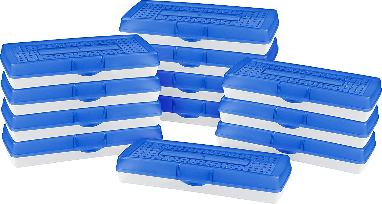 STOREX Stretch Stretch Stretch Bleistift Box, 14,2 x 34 x 6,4 cm, Farben, Fall von 12 (61620u12 C) blau B01HFHJ628 | Zarte  da8f0f