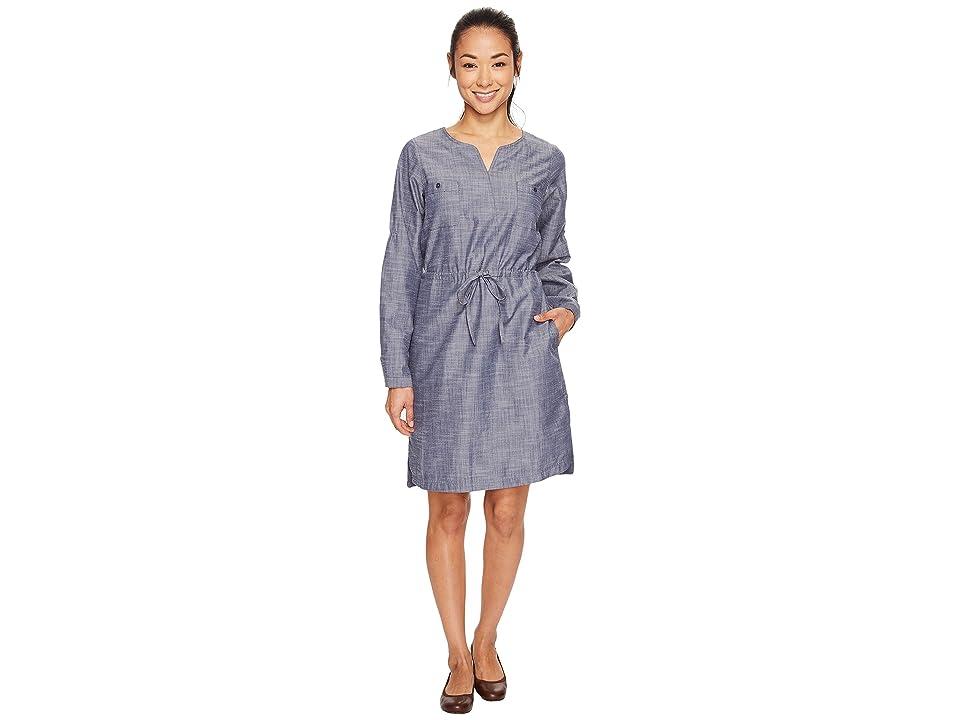 ExOfficio Sol Cool Chambray Dress (Indigo) Women