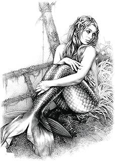 mermaid black large 8.25