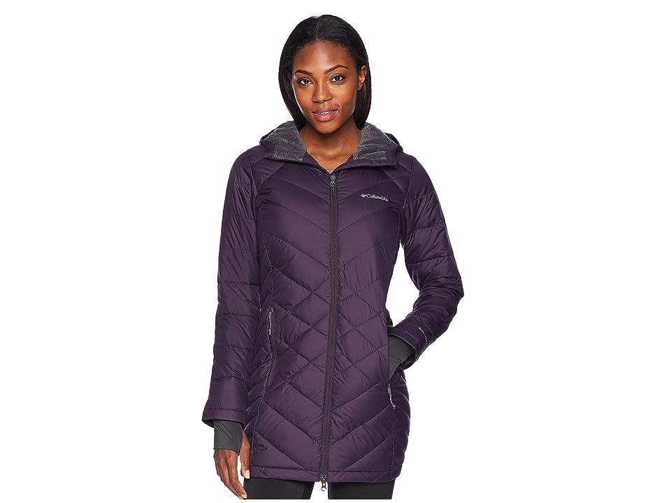Columbia Heavenly Long Hooded Jacket (Dark Plum) Women