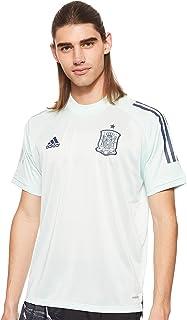 تي شيرت ذو نسخة مطابقة عن بلوزة المنتخب الاسباني من اديداس للرجال مصنوع من قماش جيرسي