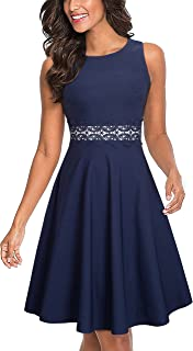 HOMEYEE Women's Sleeveless Cocktail A-Line Embroidery...