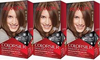 Revlon Colorsilk Beautiful Color, Light Brown, 3 Count