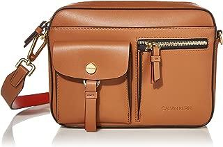 Calvin Klein Rossa Smooth Novelty Organizational Top Zip Crossbody