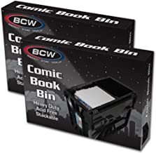 BCW Short Comic Bin – Plastic – Black (2-Unit)