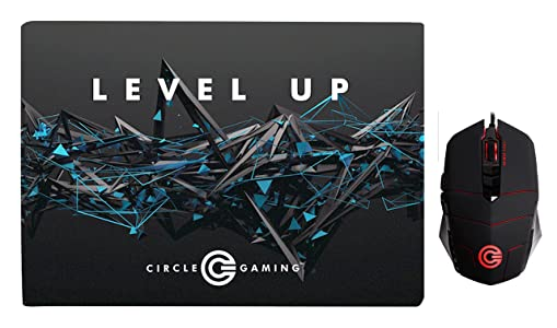 Circle Marksman 2 - 4000 DPI Ultra-Fast Super-Precise Gaming Mouse WITH Battle Pro Gaming Mousepad (Combo Pack) - Black