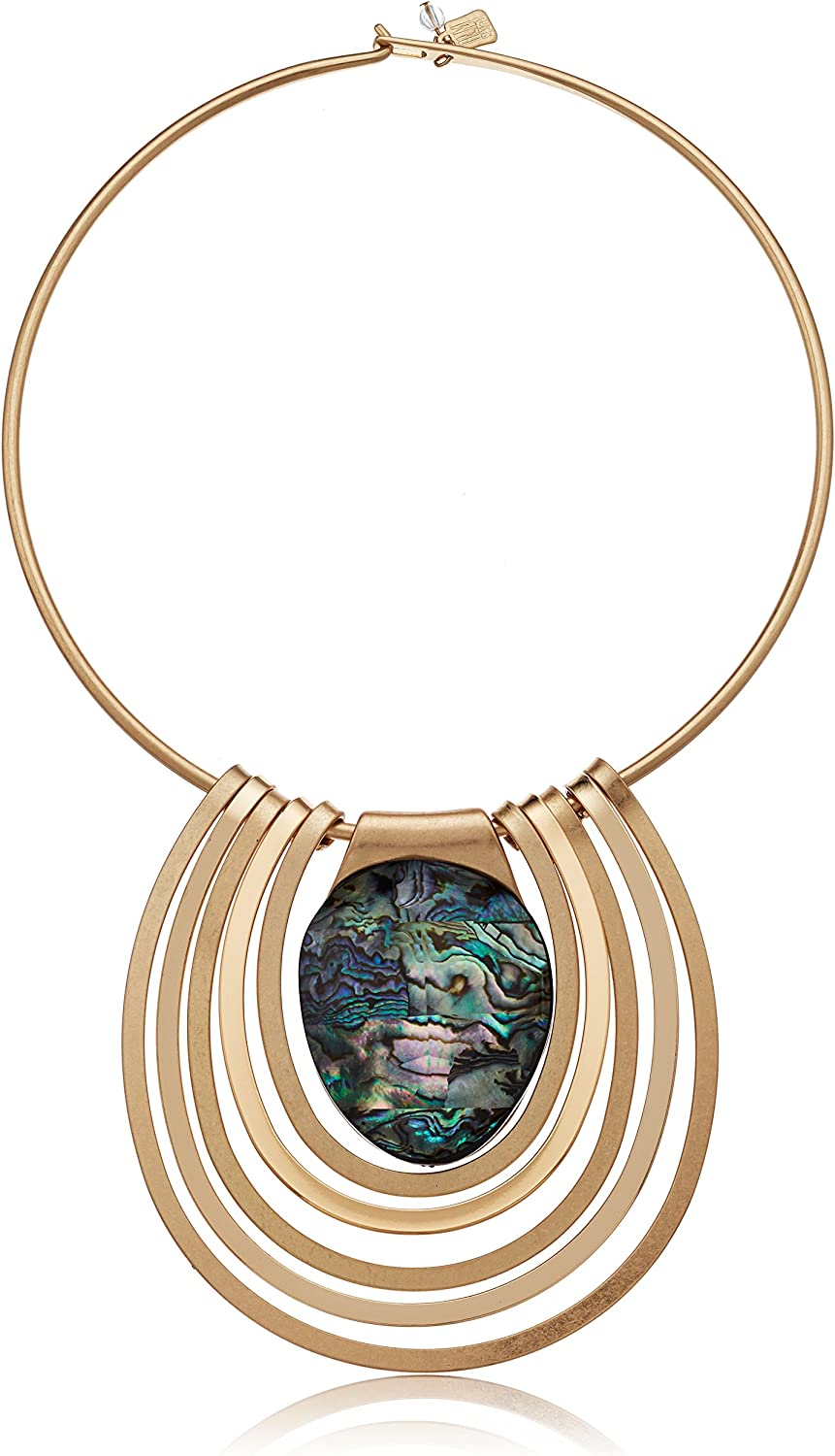 Robert Lee Morris Midnight Hour Abalon Wire Gold Statement Round Limited Special Max 54% OFF Price