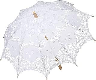 ladies white parasol