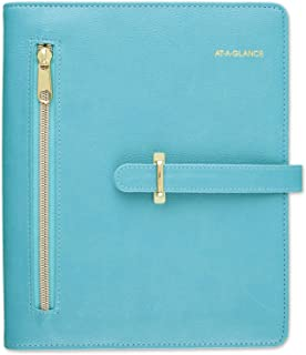 """Starter Set by AT-A-GLANCE, Undated, 5-1/2"""" x 8-1/2"""", Desk Size, 7-Ring, Faux Leather Fashion, Teal (DR1118-040-42)"""
