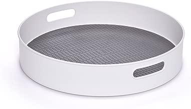 """Copco 5218433 Non-Skid Under-Sink Pantry Cabinet Kitchen Organizer, 18"""", White/Gray"""