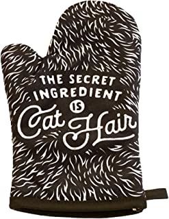 Crazy Dog T-Shirts The Secret Ingredient is Cat Hair Funny Pet Kitten Animal Lover Graphic Kitchen Accessories (Oven Mitt)