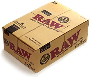 RAW Connoiss Prerolled Tips Threads 1 Box Classic Connoisseur King Size Slim Paper + Pre
