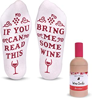 Women's Bring Me Wine Novelty Socks with Gift Packaging