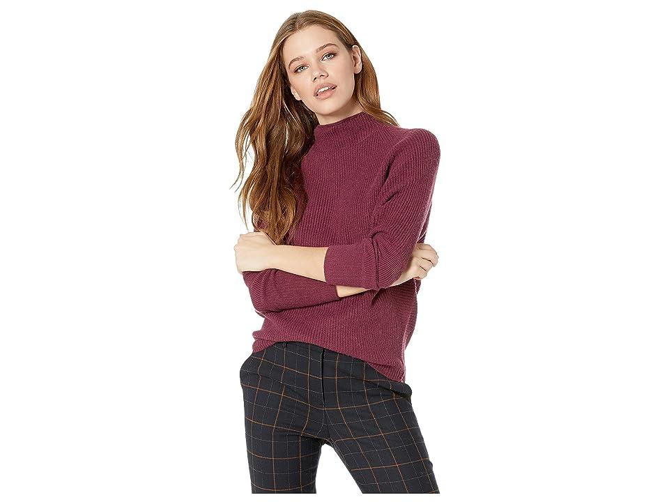 Jack by BB Dakota Sugar Gider Rib Stitch Sweater (Burgundy) Women