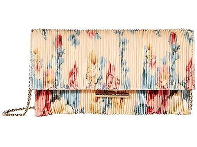 Loeffler Randall Tab Clutch (Butter Multi Floral) Clutch Handbags