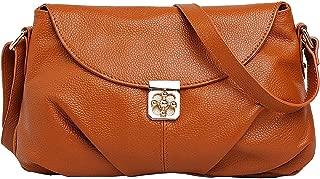 Hotwt Women's Genuine Leather Classic Style Soft Shoulder Bag Cross Body Handbag satchel Purse