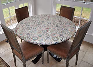 plastic table cover with elastic edge