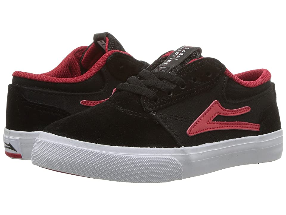 Lakai Griffin (Little Kid/Big Kid) (Black/Red Suede) Men