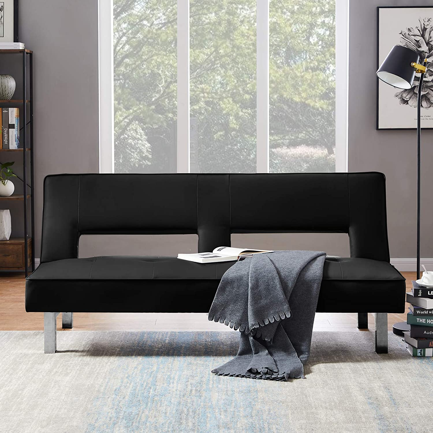 service Modern PU Sofa High quality new Bed Couch Convertible with Adjustab Sleeper
