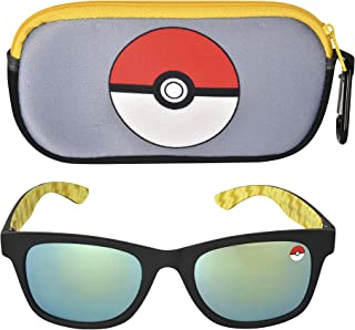 Pokemon Kids Sunglasses with Kids Glasses Case, Protective Toddler Sunglasses