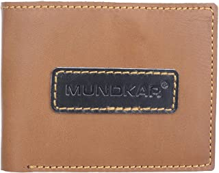 MUNDKAR Genuine Leather Wallet for Men & Boys with RIFID Protection (Tan)