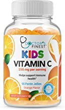 Doctors Finest Vitamin C Gummies for Kids – Vegan, GMO Free & Gluten Free – Great Tasting Orange Flavor Pectin Chews – Kid...