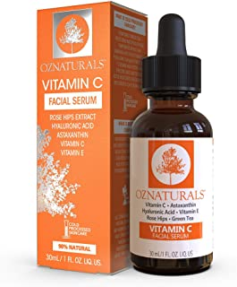 OZ Naturals Vitamin C Facial Serum Moisturizer, 30 ml