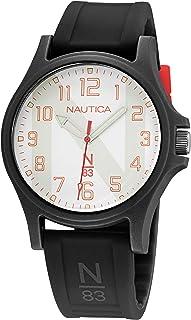 Nautica Men's Quartz Silicone Strap, Black, 20 Casual Watch (Model: NAPJSLE24)