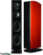 Polk Audio LSiM 707 Ultimate Floorstanding Loudspeaker | Dynamic Balance & PowerPort Technology | Bi-Wire & Bi-Amp | Single, Mount Vernon Cherry
