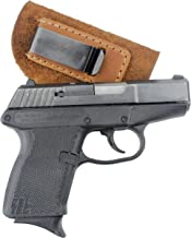 Relentless Tactical The Ultimate Suede Leather IWB Holster - Made in USA - Fits Glock 42 - Sig Sauer P365   Ruger LC9 -Kahr CM9/MK9/P9 - Kel-Tec - Kimber Solo Carry & More
