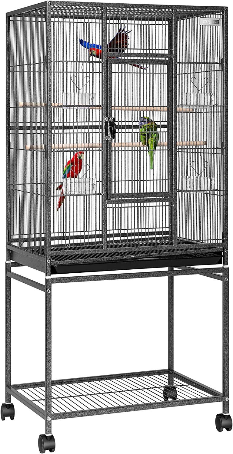 Safety and trust VIVOHOME 54 Inch Wrought Iron Large Rollin Cage Bird Flight List price with